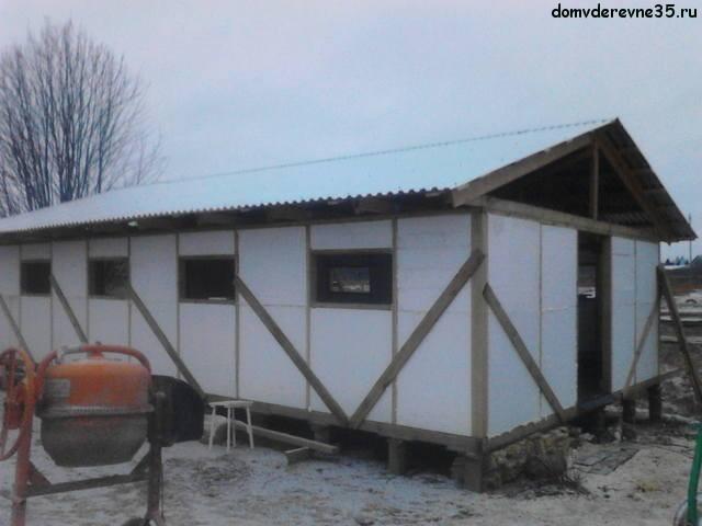 Строительство хлева в деревне своими руками