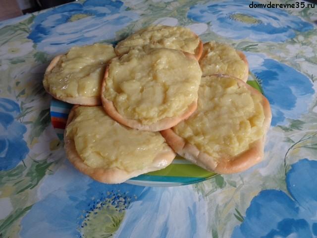 картофельные шаньги из дрожжевого теста